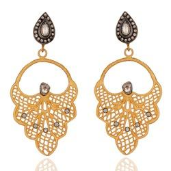 rose cut diamond polki women s earrings bridal party jewelry