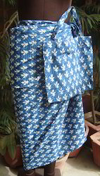 Indigo Print Beach Wear
