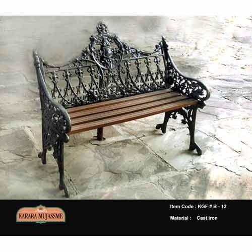 antique victorian cast iron outdoor bench set
