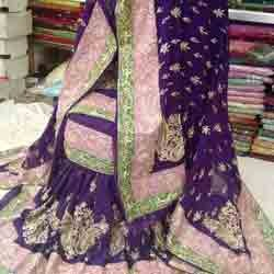 Purple Bridal Gharara