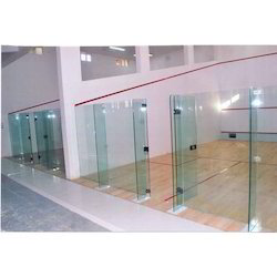 Squash Courts Glass Back Wall