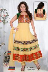 Net+Anarkali+Dress