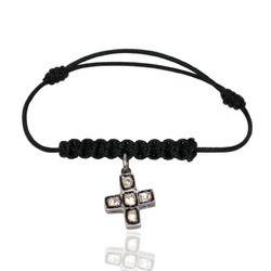 Diamond Cross Macrame Bracelet