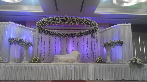 Wedding decoration backdrop decoration service provider from bengaluru backdrop decoration junglespirit Image collections