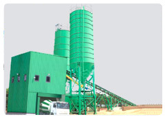 fully automatic concrete batching twin shaft mixing plant