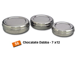 Steel Chocolate Storage Canisters (Betha Dabba)