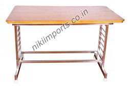 UM 100 Stainless Steel Top Wood