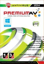 Premium AV Antivirus 2014 - 3 User 1 Year