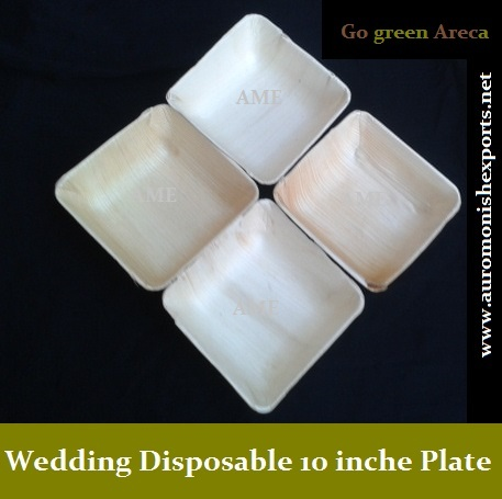 Wedding Disposable Square 10 inches Plates & Wedding Disposable Plates - Wedding Disposable Square 10 inches ...
