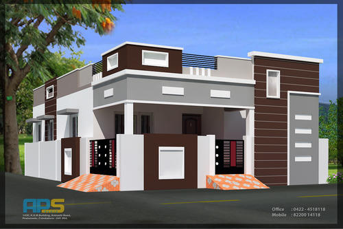 Independent houses elevations images for Single floor house elevations indian style
