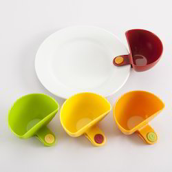 Kawachi Set Of 4 Colored Party Dip Clips Bowl Clip