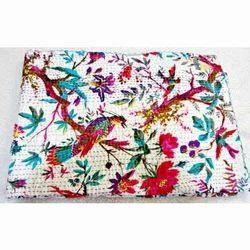Indian Floral Kantha Quilt