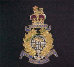 Royal Marine King Crown Blazer Badges