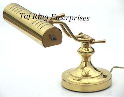 Polished Brass Study Lamp