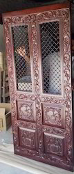 Carved Teak Wood Door