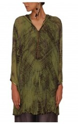 Flat Chiffon Tie Dye Tunic With Viscose Georgette Lining