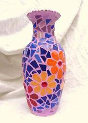 Vaah Mosaic Glass Flower Pot