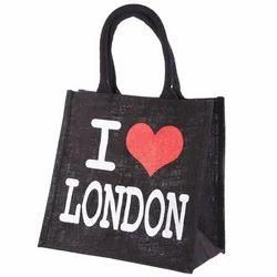 London Symbol Black Jute Bag