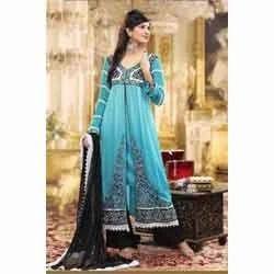 Teal Blue Anarkali Suit