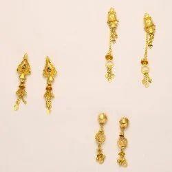Sui Dhaga Gold Earrings