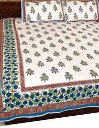 Quilted Hand Block Printed Bed Spread