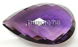 Amethyst Faceted Pear Briolette Gemstone