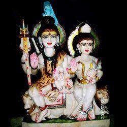 Shiv and Parvati Statue