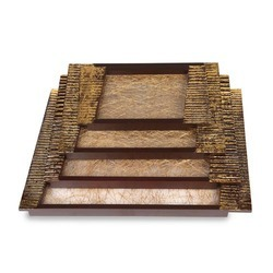 Fiber Tray Set Gold