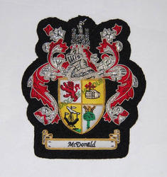 MC Donald(family Crest) Small Pocket Size Embroidered Badge