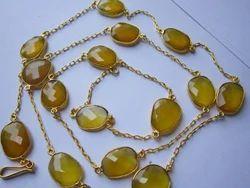 yellow chalcedony chain