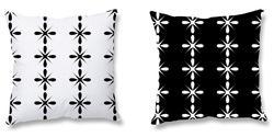 Black and White Decorative Cushion