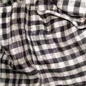 Black and White Check Cashmere Fabric