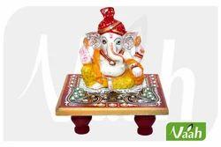 Vaah Marble Chowki Pagdi Ganesh