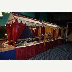 Fabric Canopy Food Stall & Wedding Food Counter - Fiber Jali Food Stall Manufacturer from Delhi