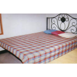 Wrought Iron Fabricated Metal Powder Coated Antique Bed