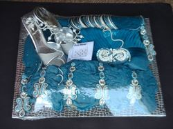 Blue Theme Saree Packing