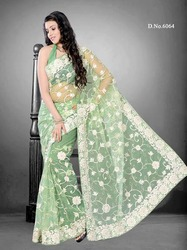 Bollywood Indian Green Net Designer Sarees
