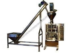powder packaging machine with auger filler