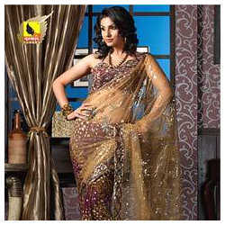 Net Party Sarees