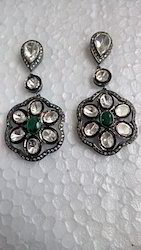 Antique Style Polki Earring
