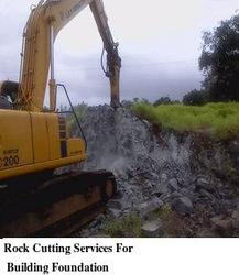Rock Cutting Services For Building Foundation