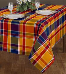 Small Checked Printed Table Cover