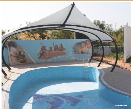 Glass Mosaic Tiles Swimming Pool
