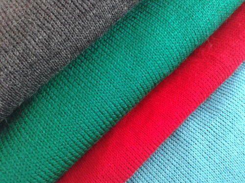 Plain Woolen Knitted Fabrics