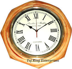 Wooden Nautical Clock