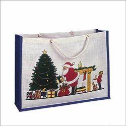 Santa Printed Promotional Bag