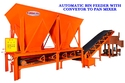 Automatic Bin Feeder with Conveyor to pan mixer