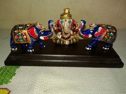 Ganesha Statue With Elephants