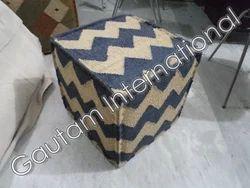 Indus Bedouin Wool Pouf