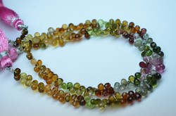 Multi Tourmaline Faceted Tear Drops